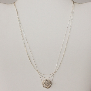 Silver Triple Strand Necklace