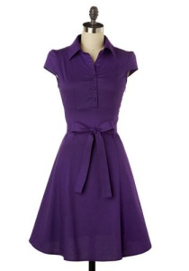 Soda Fountain Dress in Grape: Mod Cloth