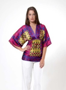 Mulit Bohemian Chic V-Neck Top