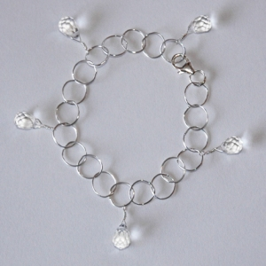 Crystal Persuasion Bracelet in Silver: Hurricane by Jane