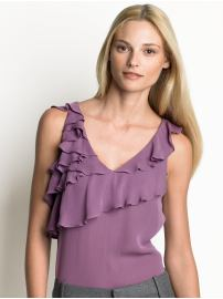 Silk Tiered Top $70: Banana Republic