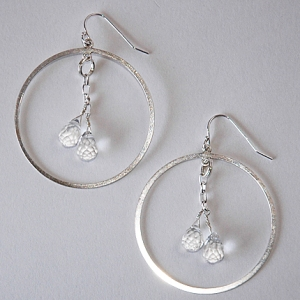 Crystal Ship Earrings Silver: Hurricane by Jane