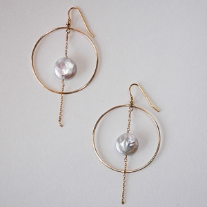 Pearl Before Swine Earrings: Hurricane by Jane $42