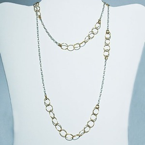 Multitasker Silver and Gold Necklace: Hurricane by Jane