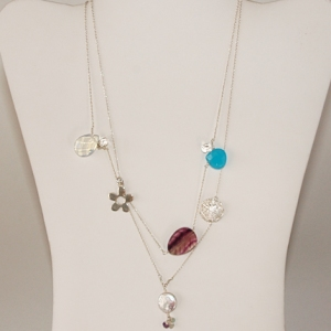 Lucky Charms Necklace in Sterling Silver: Hurricane by Jane Jewelry