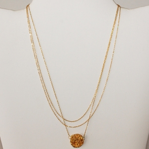Gold Triple Strand $48: Hurricane by Jane L.L.C.