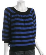 Autumn Cashmere Bubble Stripe Sweater: Bluefly.com