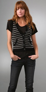 Splendid, French Stripe Cashmere Vest: Bluefly.com