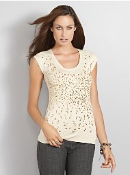 Sequined T Shirt, $36.95: New York and Company