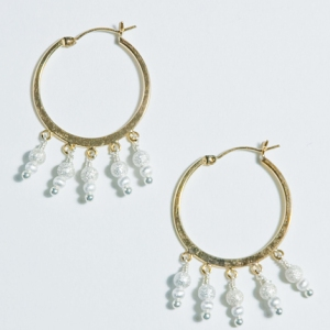 Icicle Hoop Earrings $52: Hurricane by Jane
