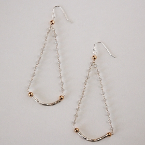 Moony Swingtown Earrings, $59: Hurricane by Jane Jewelry