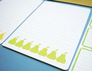Pear Embossed Writing Set, $9: Scatter Box Originals