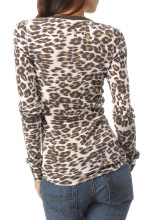 Animal Print Thermal Top, $49.50: Lucky Brand