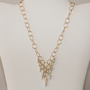 Icicle Necklace Gold and Silver: Hurricane by Jane Jewelry